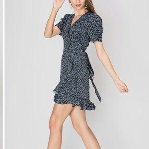 Essue Irene Leopard Print Dress Sz M